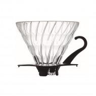 Hario V60 Dripper 02 Glas Zwart - Filterhouder