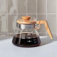 Hario Coffee Server 02 - 600 mL - Olive Wood - Serveerkan