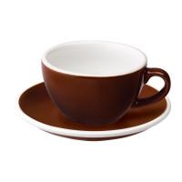 Loveramics Egg Cappuccino Kop en Schotel 200 mL Brown