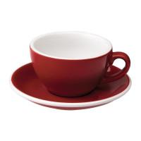 Loveramics Egg Cappuccino Kop en Schotel 200 mL Red