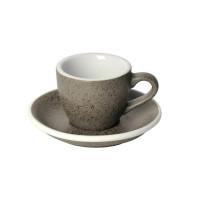 Loveramics Egg Espresso Kop en Schotel 80 mL Granite