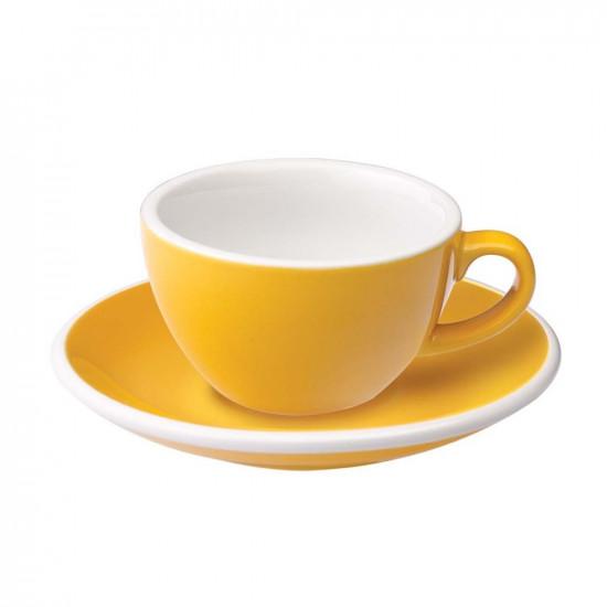Loveramics Egg Flat White Kop en Schotel 150 mL Yellow