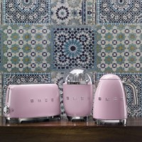 SMEG TSF01 Broodrooster - Roze (2x2)