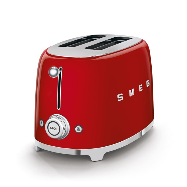 SMEG TSF01 Broodrooster - Rood (2x2)
