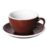Loveramics Egg Cappuccino Kop en Schotel 250 mL Brown