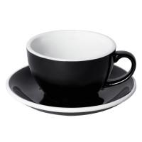 Loveramics Egg Cappuccino Kop en Schotel 250 mL Black