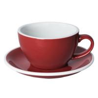 Loveramics Egg Cappuccino Kop en Schotel 250 mL Red